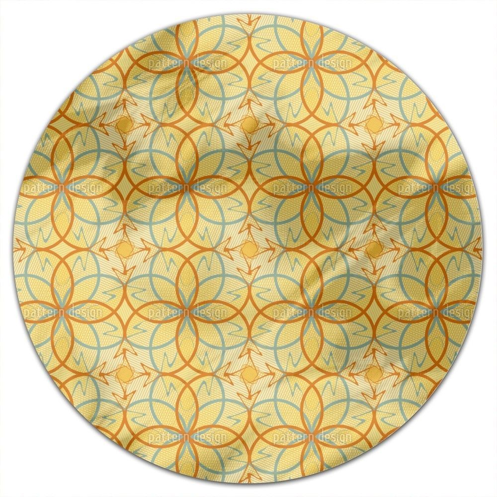 Uneekee Linafiora Round Tablecloth (Small), Multi (Polyester, Print)