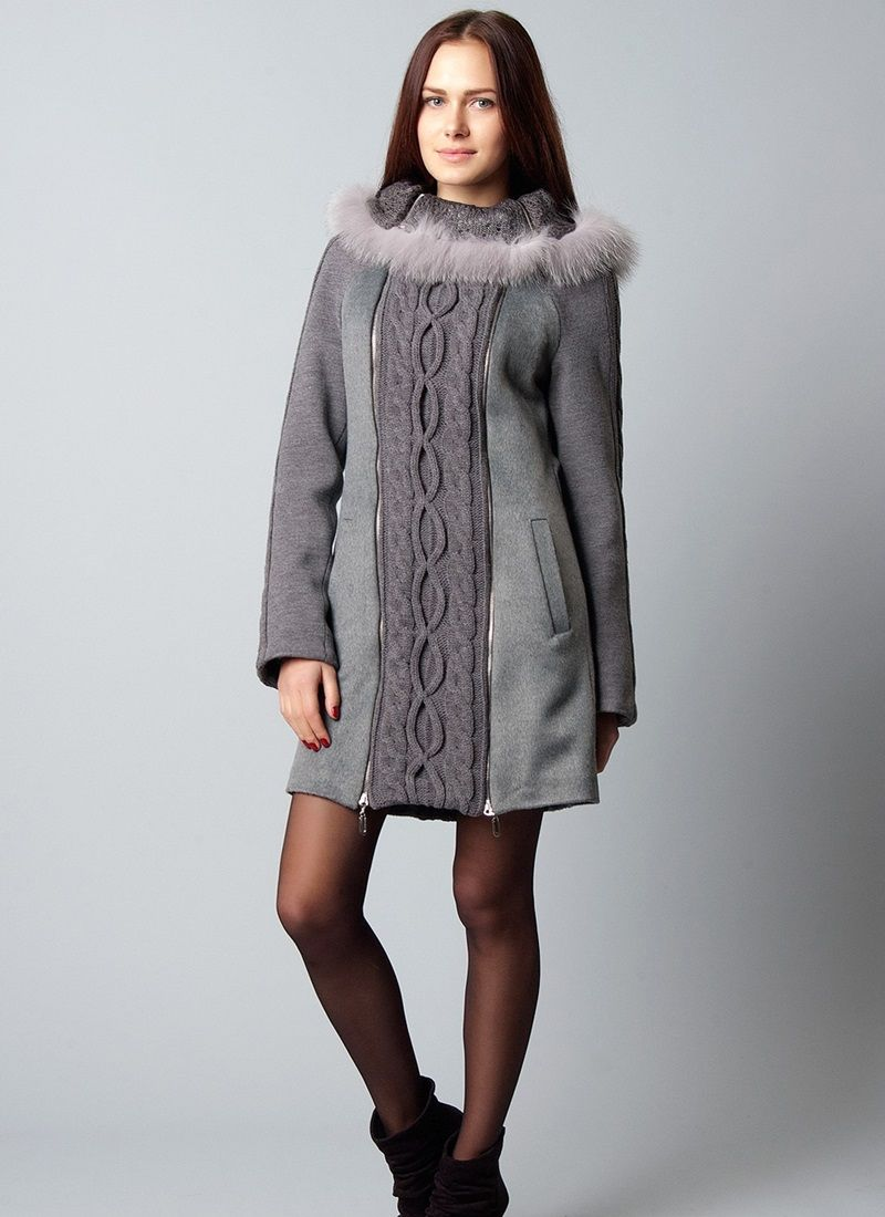 e985379fdcc Вязаное пальто (140 фото)  женское пальто с капюшоном