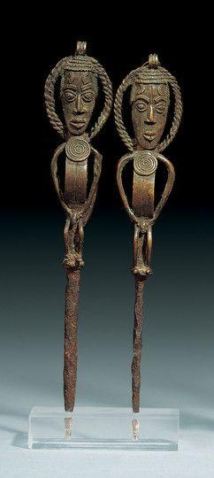 Yoruba Edan Ogboni (Ogboni Society Staff), Nigeria http://www.imodara.com/item/nigeria-yoruba-edan-ogboni-osugbo-staff/
