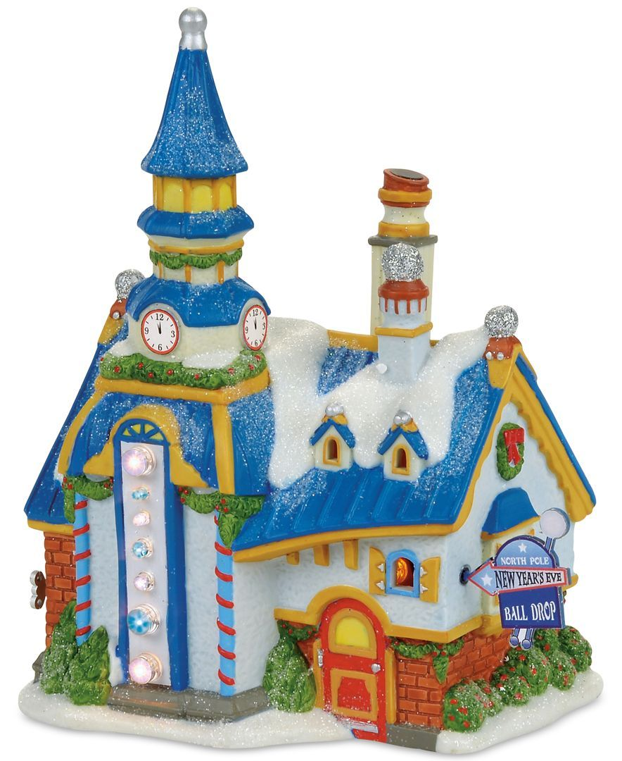 Department 56 North Pole Village New Year's Eve Center