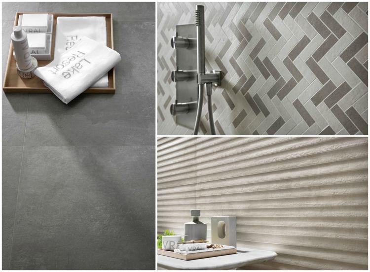 unglasierte Fliesen für Wand und Boden Badezimmer Gestaltungsideen
