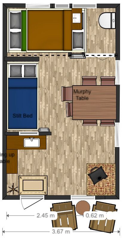 12x20 floor plan cabin layout tiny house decorating tips. Black Bedroom Furniture Sets. Home Design Ideas