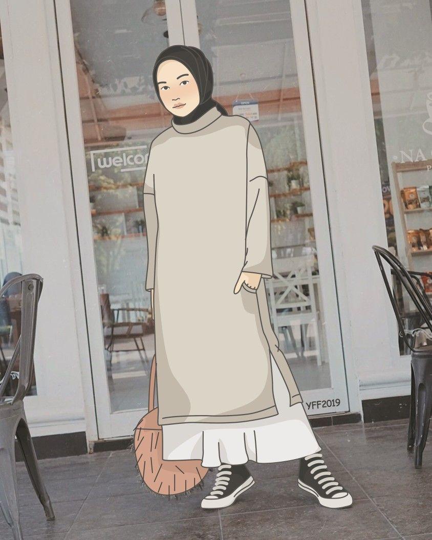 Pin Oleh Elin Mayang Di Kartun Muslimah
