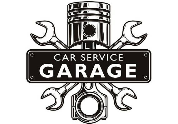 Mechanic Logo 3 Piston Wrench Crossed Engine Car Auto Motorcycle