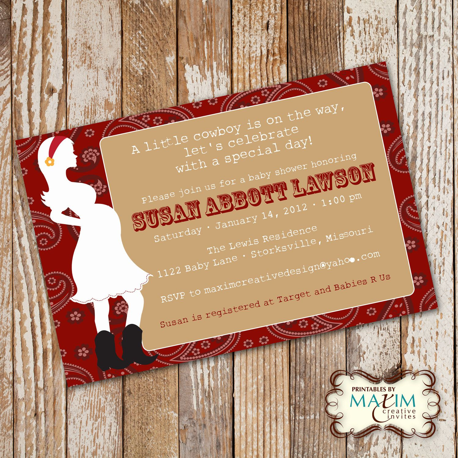 DIY Printable Invitation - Baby Shower Invitation, Party ...