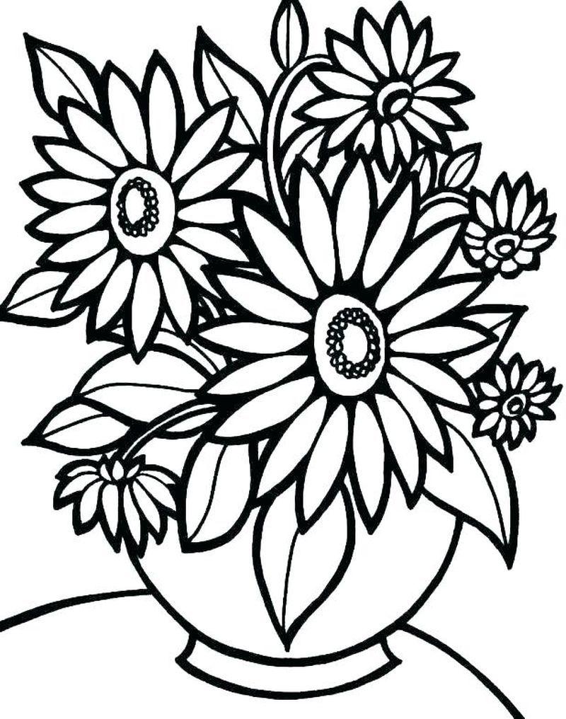 Ausmalbilder Kostenlos Blumen Schmetterling  Malvorlagen blumen