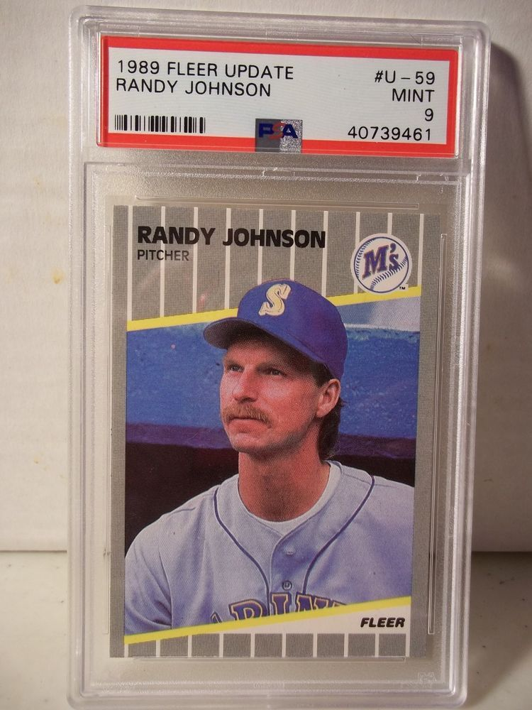 1989 Fleer Update Randy Johnson Rookie Psa Mint 9 Baseball