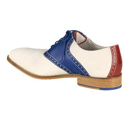 Cole Haan red-white-blue saddle shoe