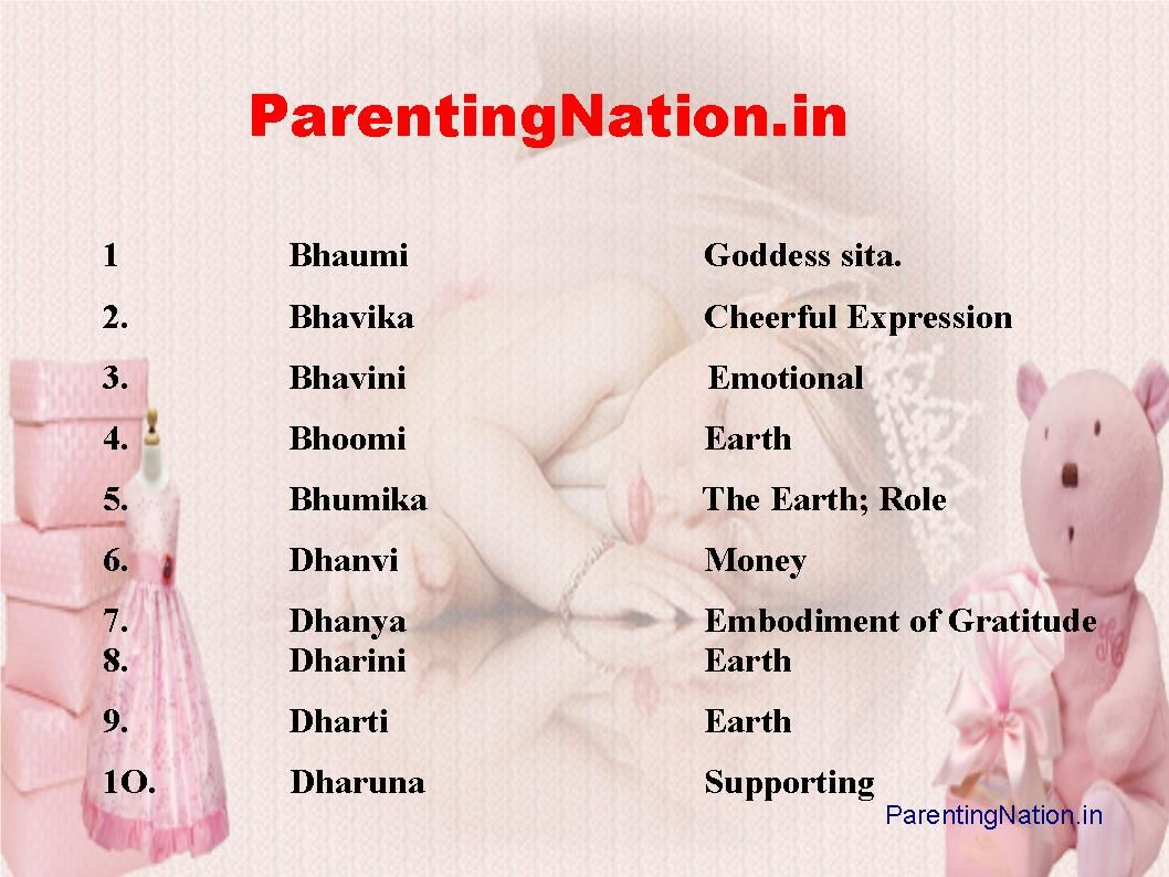 this slide contain dhan rashi baby girl names with meanings pick