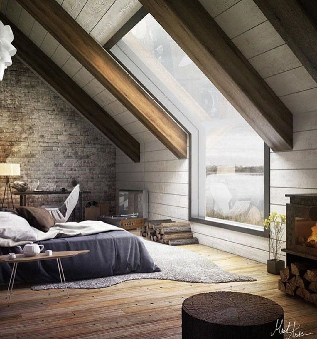 Awesome 43 Amazing Attic Bedroom Decor Ideas And Projects More At Https Decoratrend Com 2018 06 02 43 Attic Bedroom Decor Attic Bedroom Designs Attic Rooms