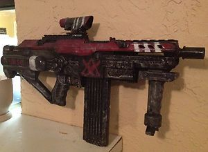 Modified Nerf Gun Halo Reach Themed Nerf Stampede ECS 50 with Custom Logos  | eBay