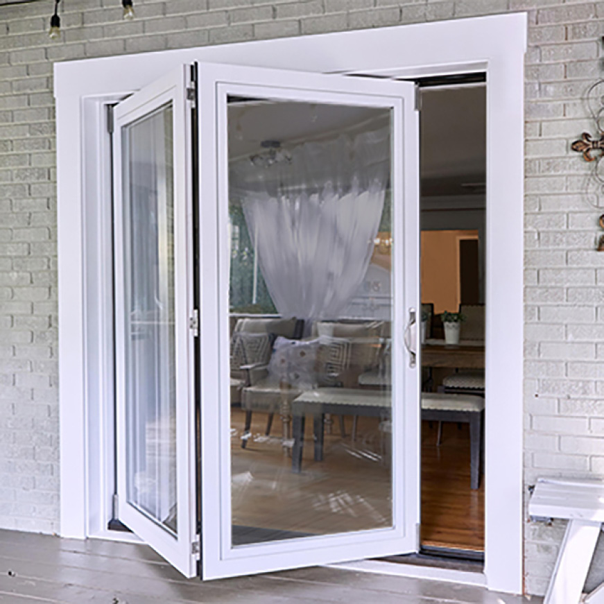 Jeld Wen 34 9 16 In X 76 3 8 In F 2500 Lh 1 Primed Fiberglass Left Hand Full Lite Active Slab Folding Patio Door Jw234000003 The Home Depot In 2020 Folding Patio Doors Sliding Doors Exterior Glass