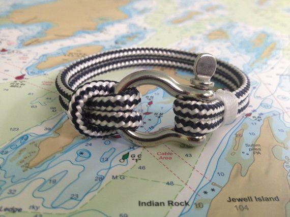 sailwinds nautical rope bracelet blue windjammer. Black Bedroom Furniture Sets. Home Design Ideas