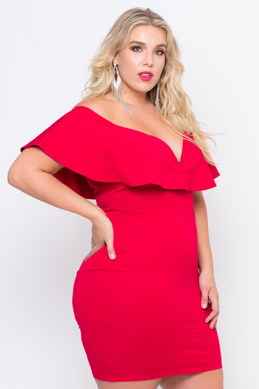 Plus Size Frill Bodycon Dress Red In 2021 Red Bodycon Dress Fashion Design Dress Bodycon Dress [ 1500 x 1000 Pixel ]