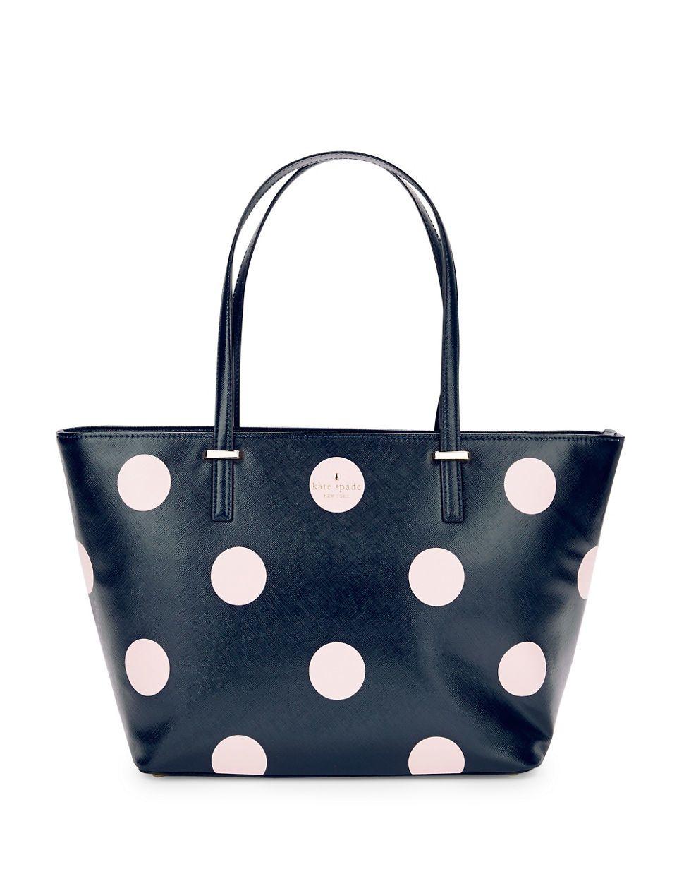 6f983ccb2d4 Women's Blue Harmony Polka Dot Tote | handbags | Kate spade tote bag ...