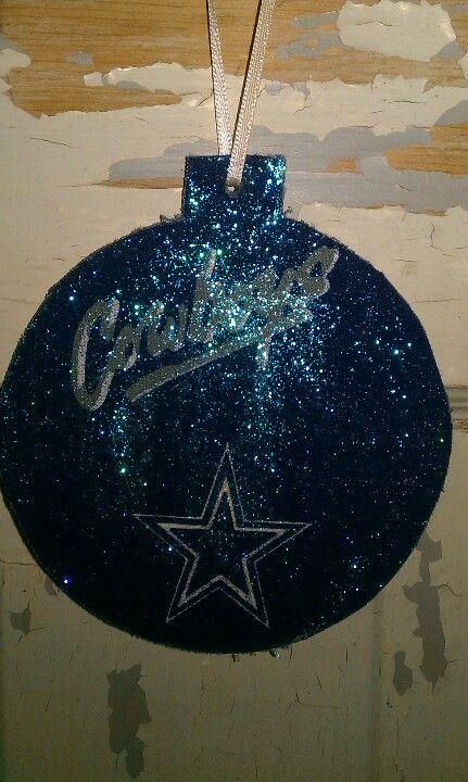 Fabric covered Dallas Cowboys Christmas ornament | Dallas ...