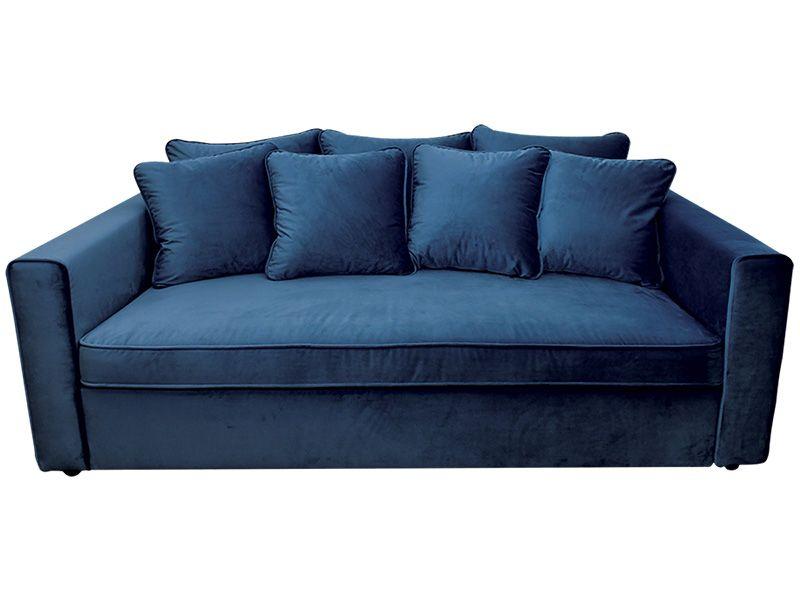 Big Sofa Velluto Samt Stoff Blau 291630 Mit Bildern Blaues Samtsofa Blaues Sofa Sofa