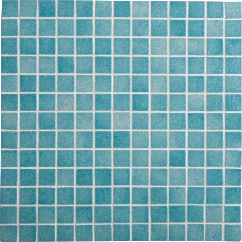 Mosa que harmonie emaux de briare bleu cm leroy merlin salle de bain sol et mur for Mosaique salle de bain leroy merlin
