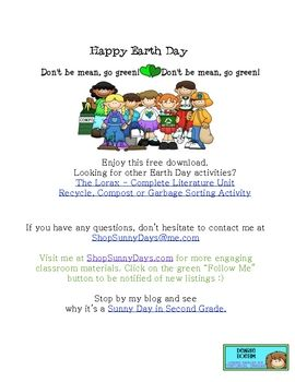 Enjoy this 3 page Earth Day LanguageArts freebiePerfect for higher