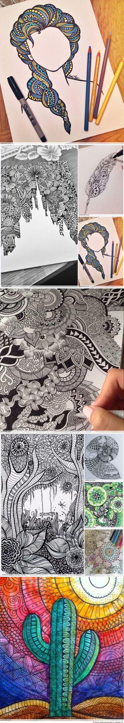 Zentangle Pattern Ideas Best Decorating Design