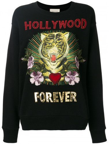 2a395e2a2 Gucci Hollywood forever embroidered sweatshirt in 2019 | Products ...