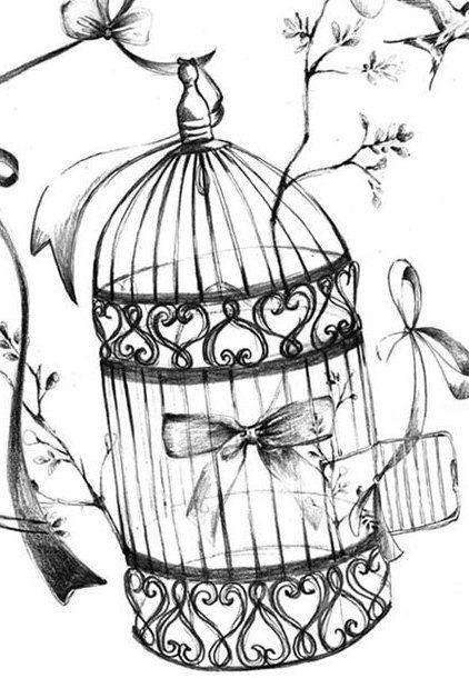 Tatouages lov1 pinterest dessin transfert et pochoir - Dessin oiseau en cage ...