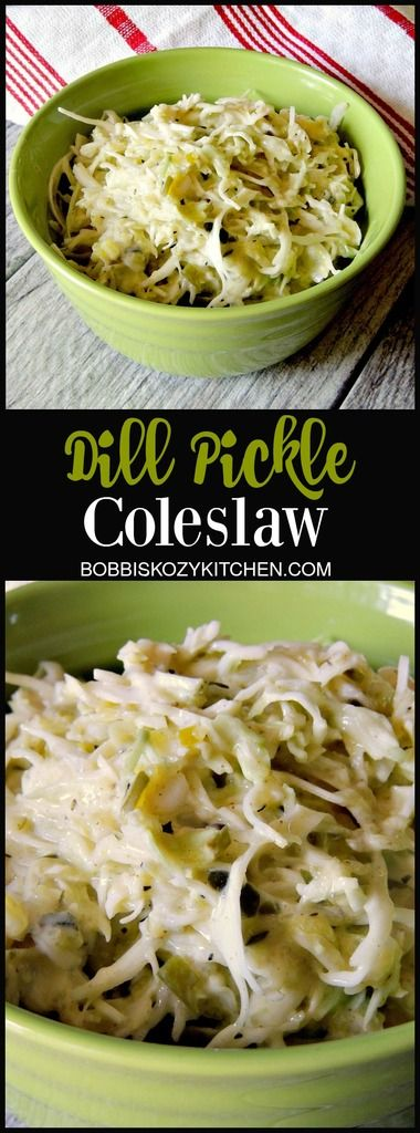 Low-Carb Dill Pickle Coleslaw