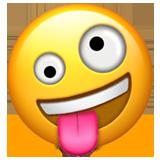 Emoji risada maluca U+1F92A Smiley emoji, Símbolos