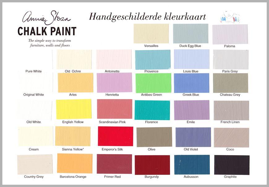 annie sloan kleurenkaart - brocante bij de buren | color in 2019