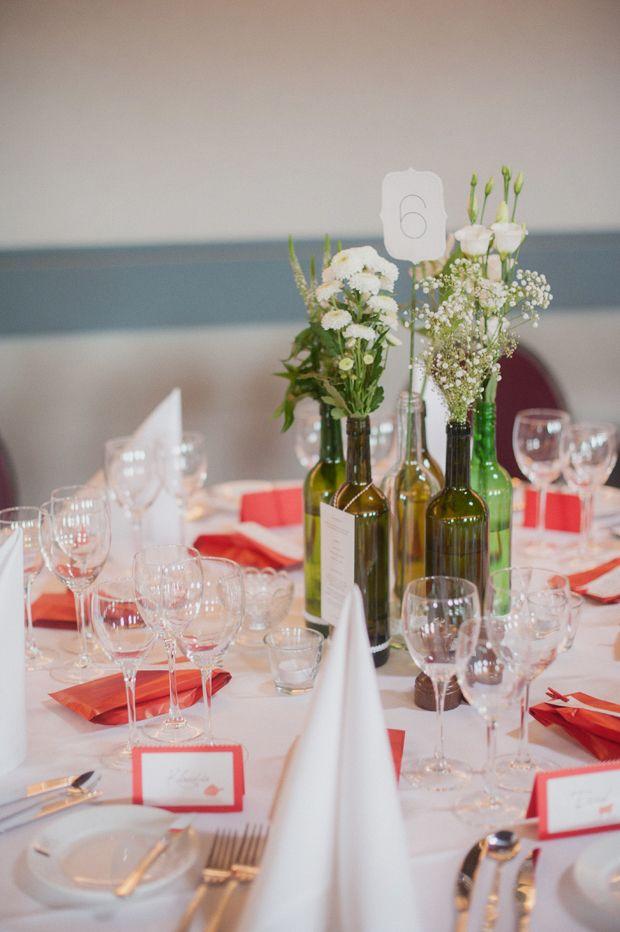 FlaschenVasen  Tischdeko Flaschen  Pinterest  Hochzeit