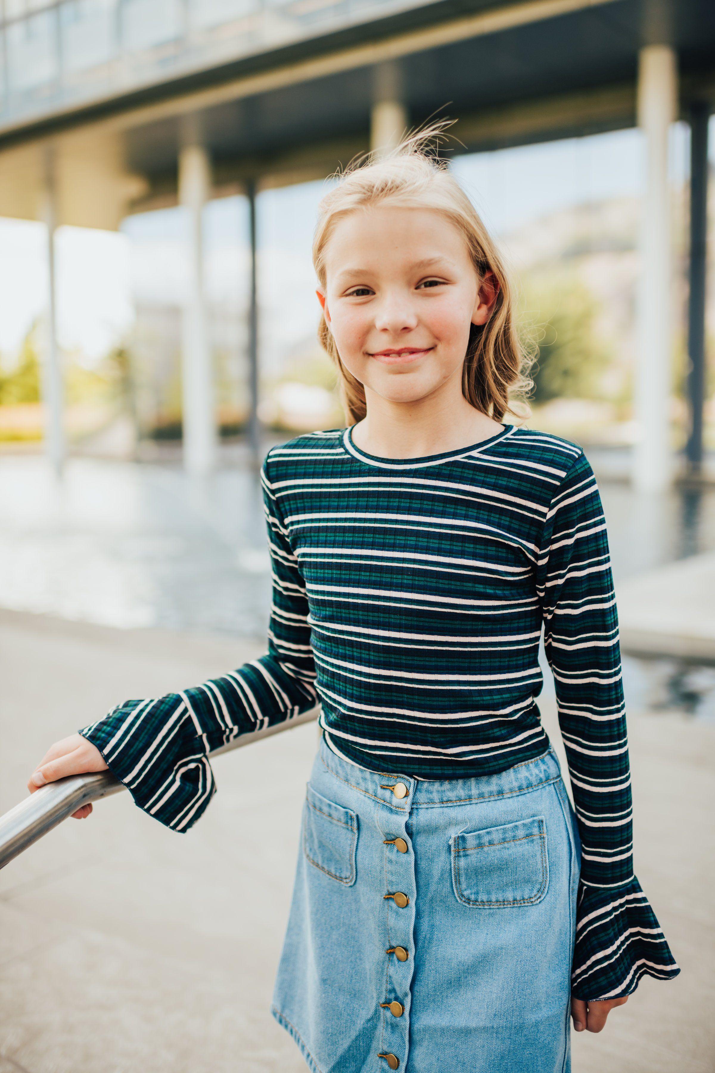 Abby bell sleeve top in never grow up girls pinterest