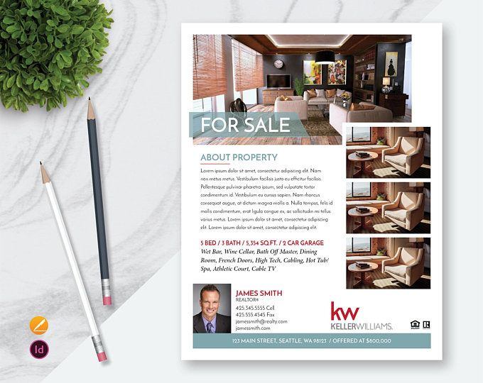 Apple Pages And Indesign For Sale Real Estate Flyer Template Open