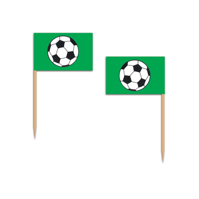 Flaggenpicker Fußballparty im 50er Pack. Fußball macht Appetit auf kleine Häppchen!