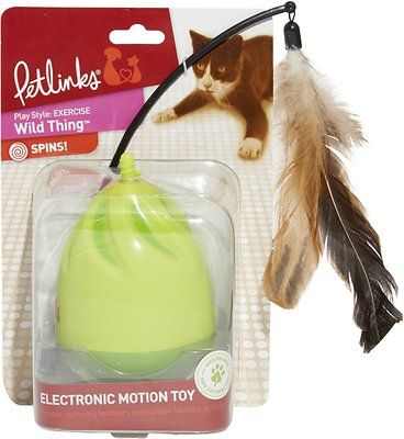 Petlinks Wild Thing Electronic Motion Ball Cat Toy Chewy