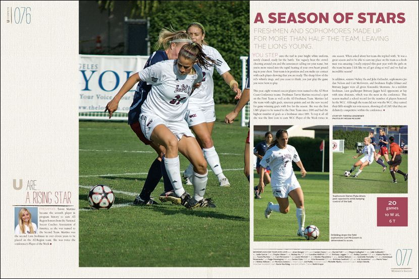 Loyola Marymount University yearbook pages
