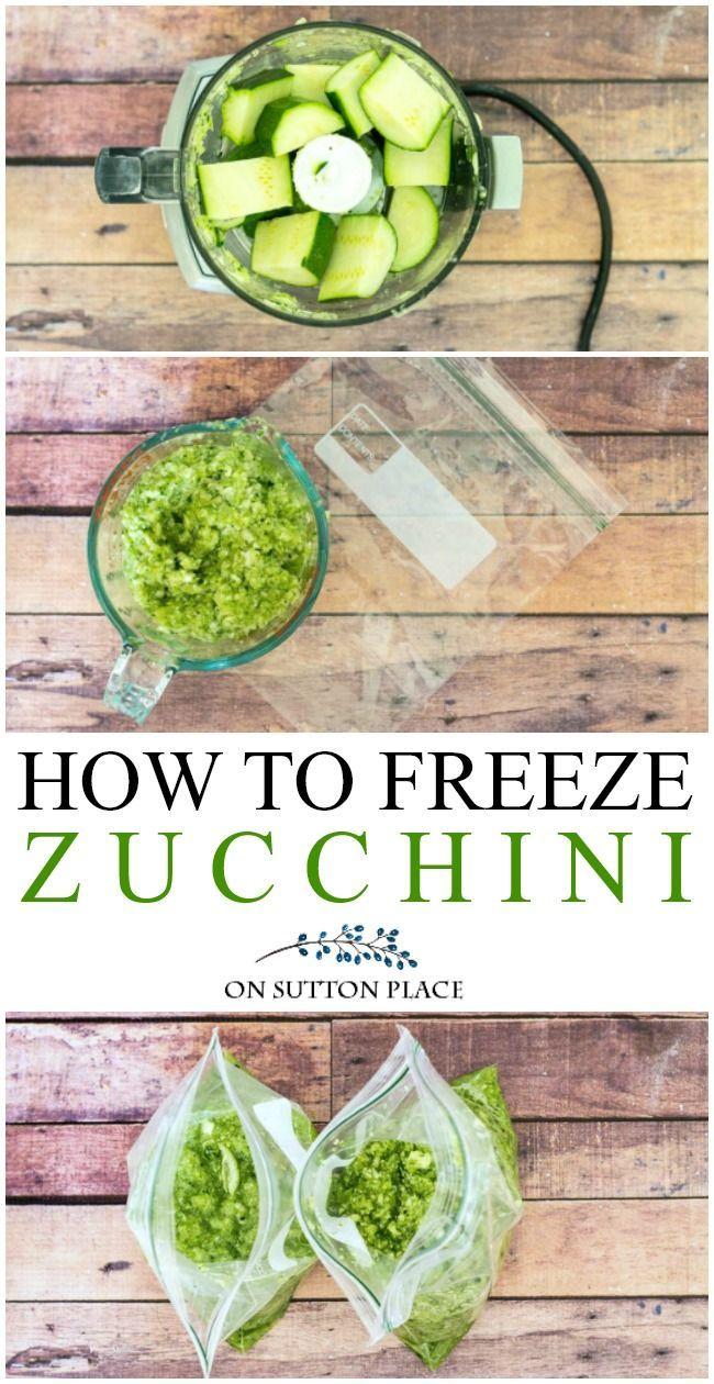 how to freeze zucchini the easy way  zucchini frozen