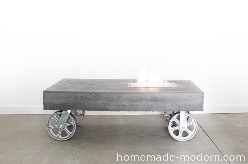 ein fahrbarer ethanol kamin aus beton feuerfest und mobil mit dieser detaillierten anleitung. Black Bedroom Furniture Sets. Home Design Ideas