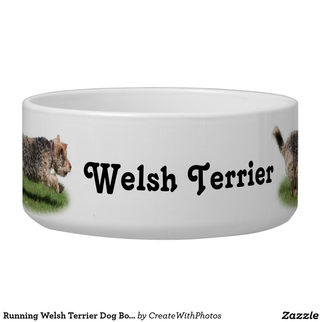 Uncategorized Cute Dog Bowl running welsh terrier dog bowl its very cute how the is all the