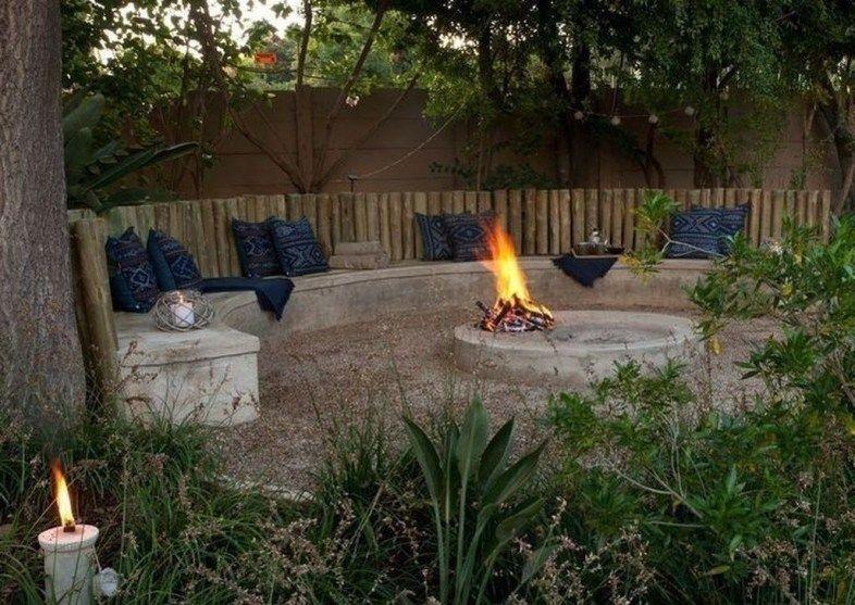 Lovely Sunken Ideas For Backyard Landscape 38 Backyard Fire Fire Pit Backyard Backyard Landscaping
