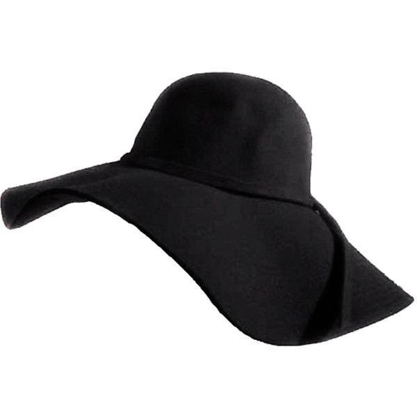 8ac7bf516 Sensational Black Wide Brim Diva Style Floppy Hat ($28) ❤ liked on ...
