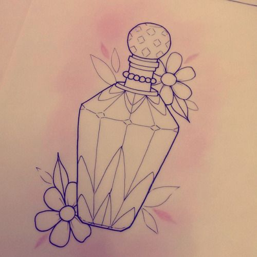 Perfume Bottle Tattoos Google Search Perfume Bottle Tattoo Bottle Tattoo Bottle Drawing