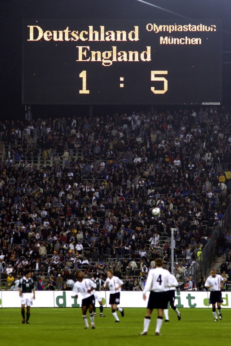 The famous scoreboard at the end of the game showing
