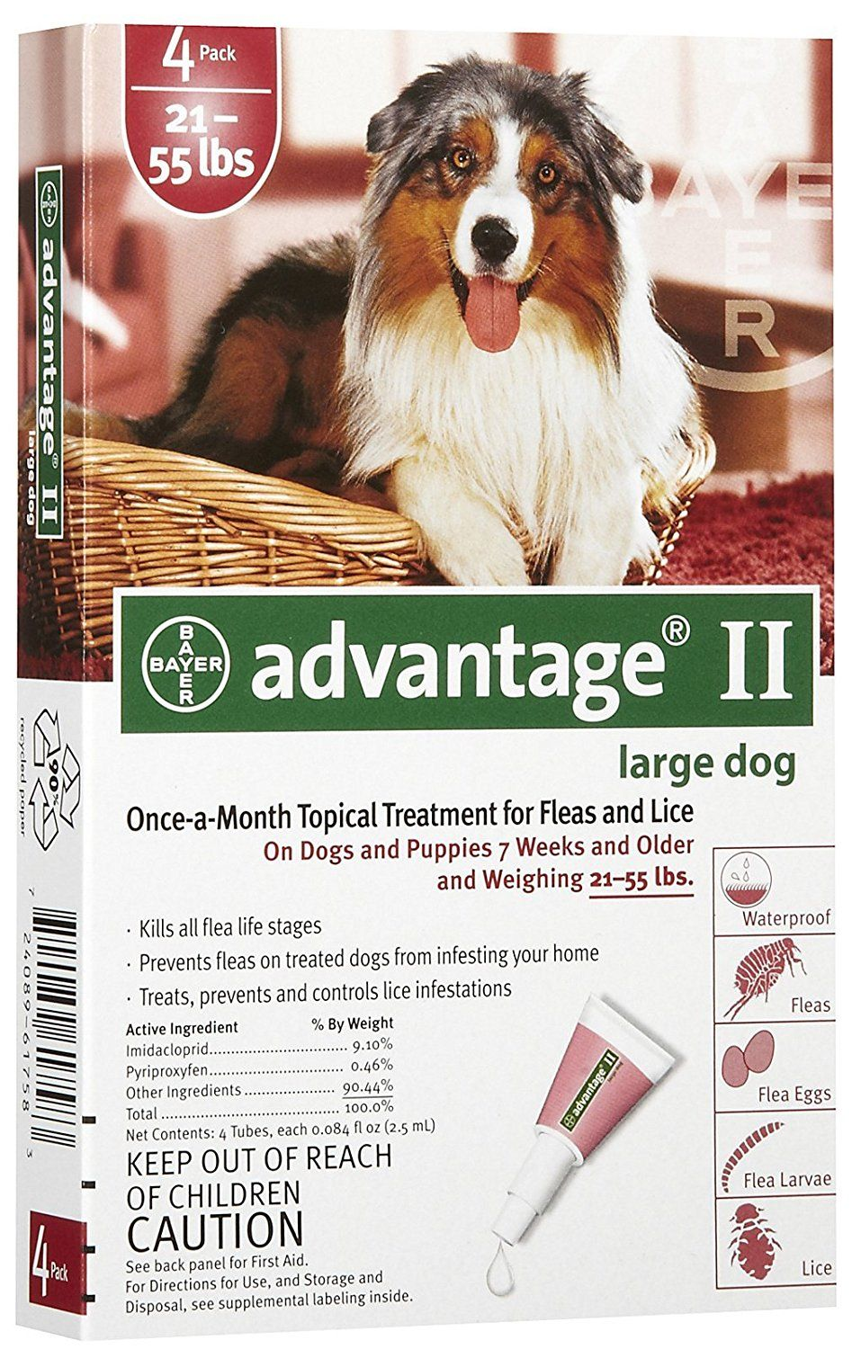 Advantage red for dogs 2155lbs you can get more