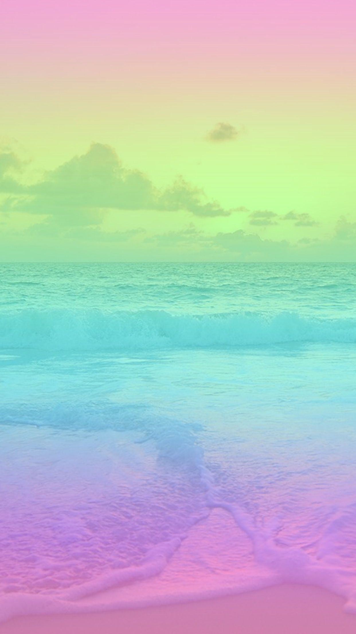 Gradient Series - I did NOT make the original image underneath the gradient, just the gradient colours. Wallpaper, iPhone, Android, Background, Pink, Purple, Blue, HD, sea, ocean, beach, colorful