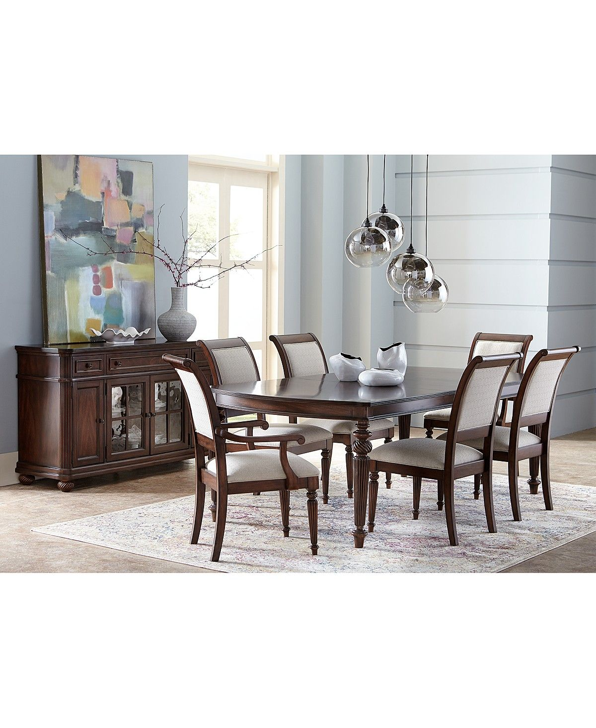 Charming Syrah Dining Furniture, 9 Pc. Set (Dining Table, 6 Side Chairs U0026 2 Arm  Chairs)   Sale U0026 Closeout   Furniture   Macyu0027s