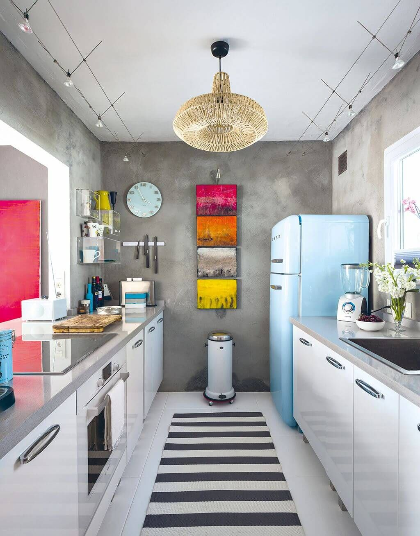 Small Modern Vintage Kitchen