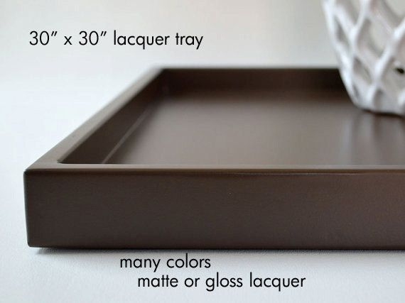 30 X 30 Extra Large Ottoman Tray Coffee Table Decor Shallow