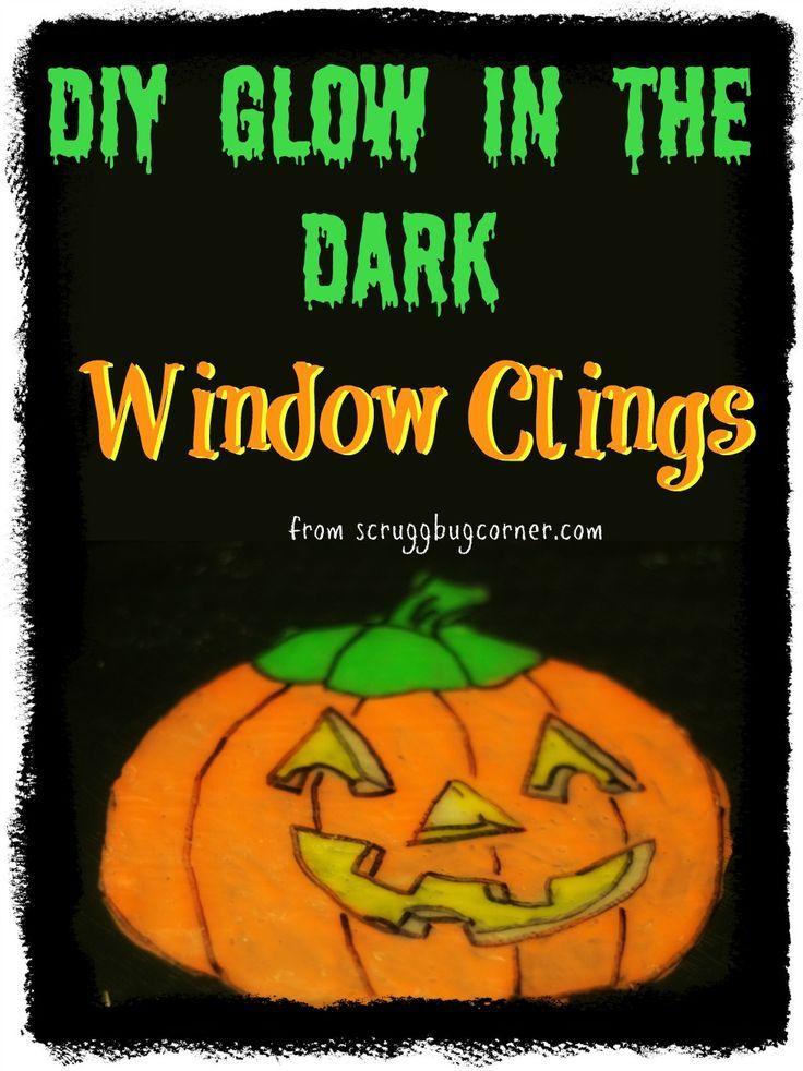 DIY Glow in the Dark Window Clings - halloween window clings