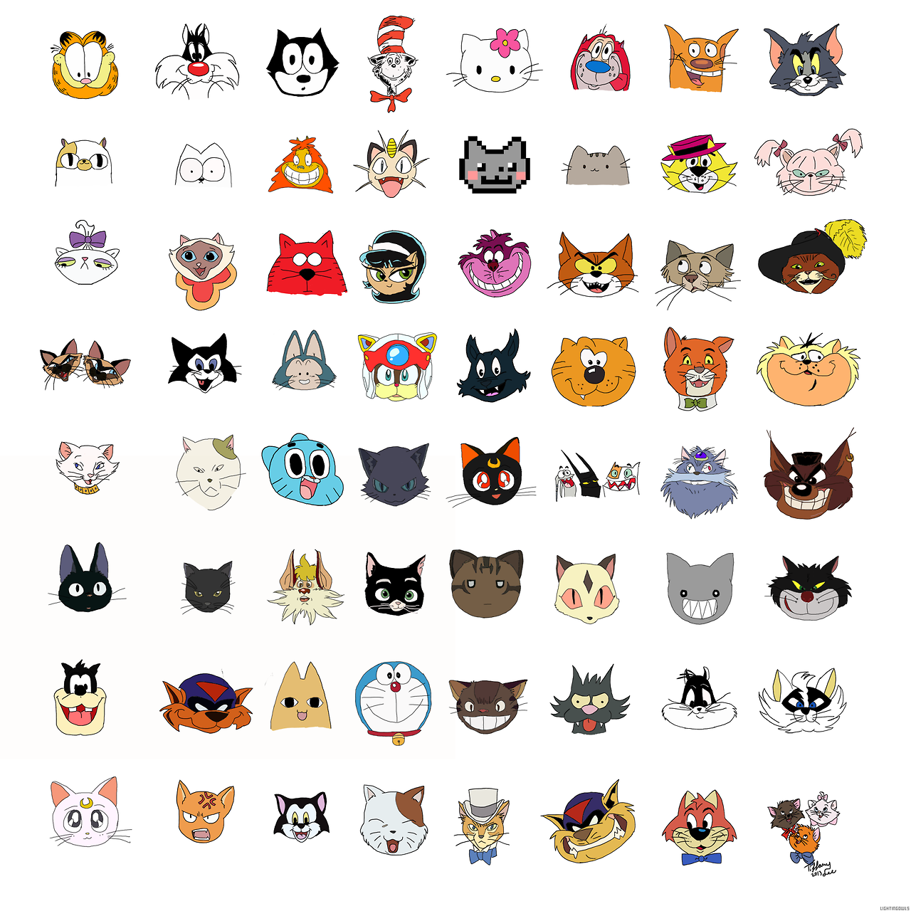 No 3 On Pawnee S Most Wanted Pests List Some Famous Cartoon Cats Cartoon Cat Cat Character Cats Illustration