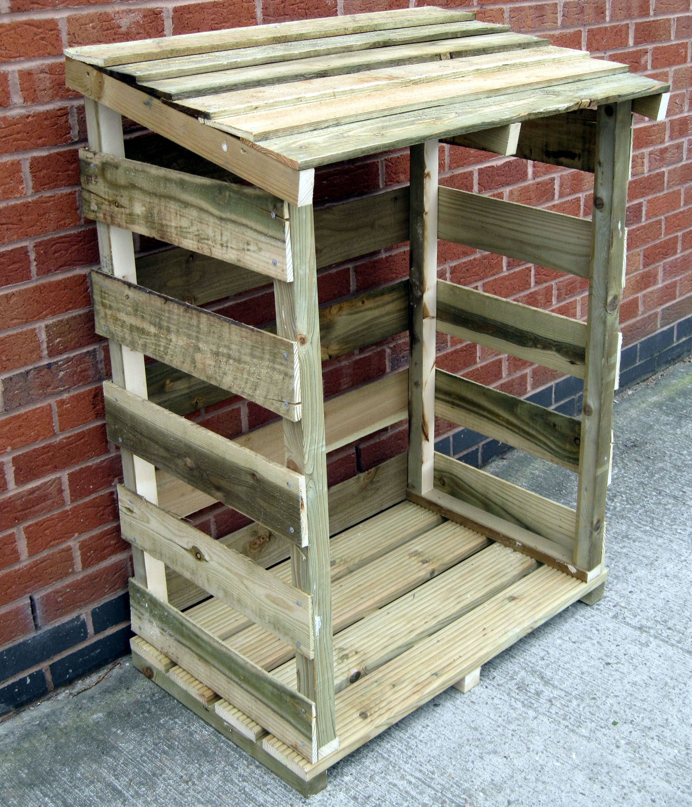 Pin by joanne bailey on for the farm pinterest log for Log storage ideas